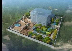 别墅庭院设计效果图,施工图,预算,方案图,部分实景图整套