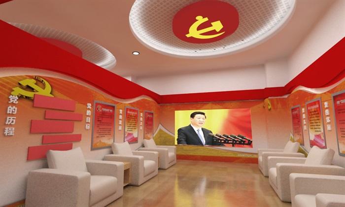 党群、党建服务中心3D亿博网络平台及效果图(6)