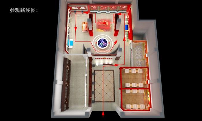 党群、党建服务中心3D模型及效果图(14)