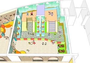 室内儿童乐园公共游乐设施SU(草图大师)模型