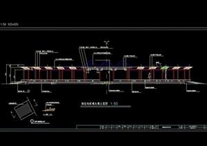 现代长廊详细设计cad施工图