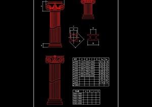 欧式柱子设计cad方案