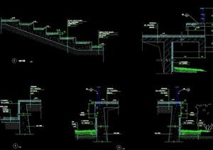 现代台阶踏步设计cad施工图