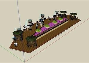 园林景观木栈道平台SU(草图大师)模型