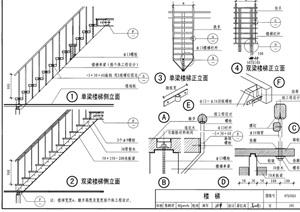 某轻型木结构楼梯jpg施工图