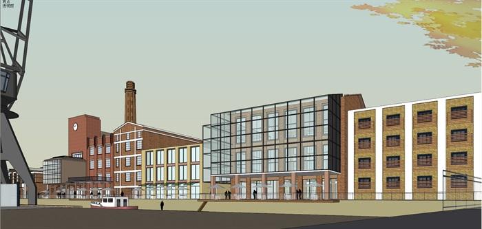 某老厂房区域的改建规划su精细模型喜欢酷(2)