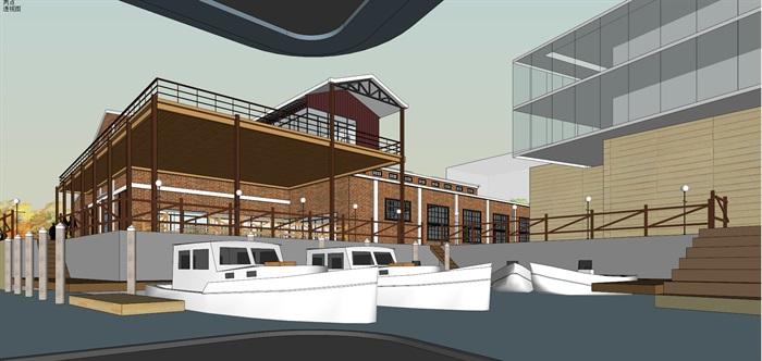 某老厂房区域的改建规划su精细模型喜欢酷(7)