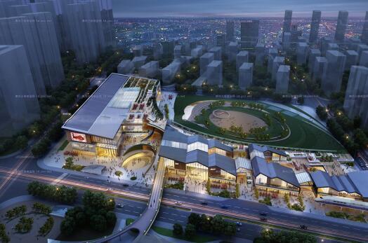 创意螺旋坡道上升式中式文化商业步行街购物综合体市民活动公园组团规划(6)
