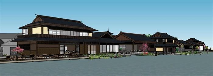 水上日式度假休闲小镇规划文化商业风情步行街(6)
