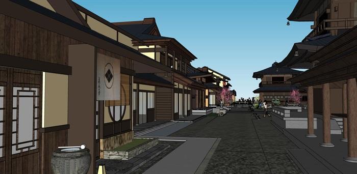 水上日式度假休闲小镇规划文化商业风情步行街(5)