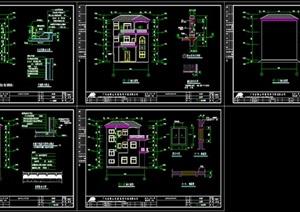 别墅建筑施工图、简欧风格