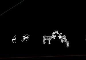 小品梅花鹿,造型鹿雕塑,景观雕塑