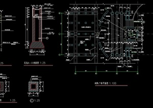 详细完整的景观柱素材设计cad施工图