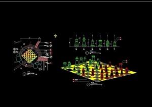 园林景观小品素材设计cad施工图