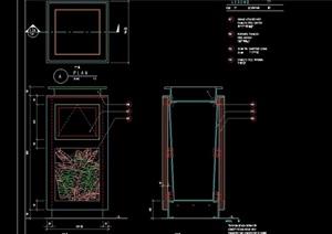 详细的垃圾箱设计cad施工图
