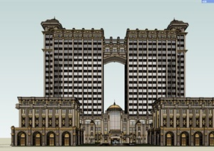 欧洲古典主义建筑SU(草图大师)模型