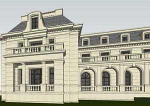 新古典主义法式会议会所SU(草图大师)模型