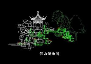 假山亭子cad方案图