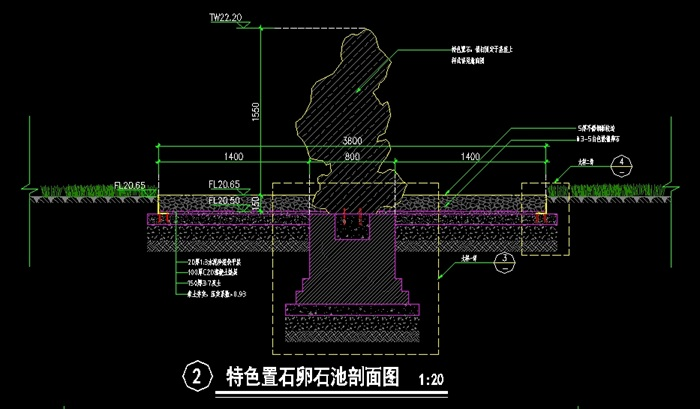 景观(景石)详细CAD施工图(3)