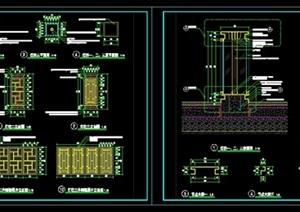 "景观""灯柱""详细CAD施工图"