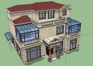 简欧独栋别墅外观改造设计