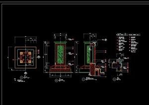 详细的灯柱设计cad施工图