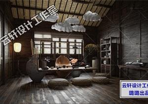 茶楼会客室设计全套3D源文件