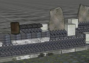 十款现代创意乡村住宅农家乐民宿木篱笆砖瓦围墙门头