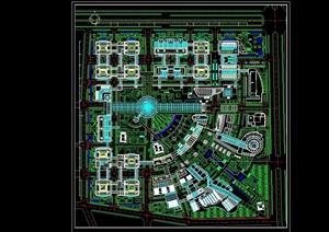 中关村办公区总平面规划图