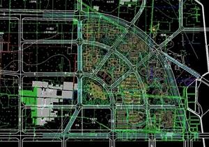 某信息产业基地cad路网图