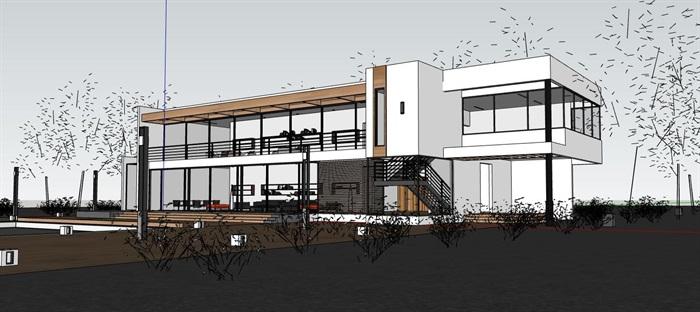 國外先鋒派現代極簡主義簡約私人住宅別墅(2)