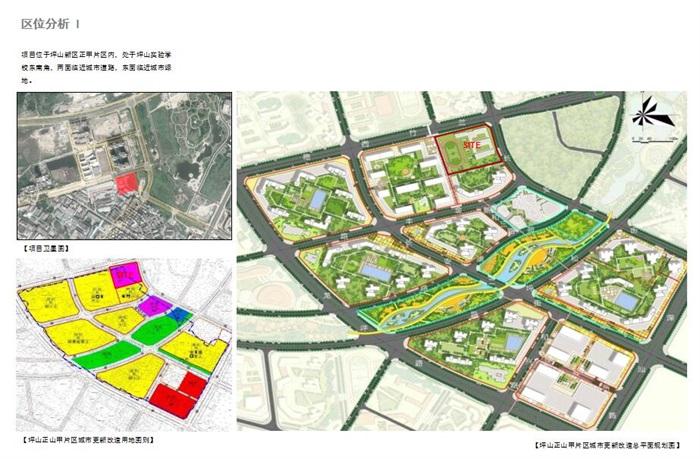 现代创意交流共享新型教学空间中小学校园规划设计su模型 cad 超清效果图 平面填色图 psd 分析文本(1)