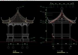 中式亭子设计cad方案