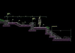 河道河岸设计cad施工图