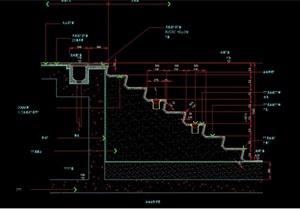 台阶景观设计cad施工图