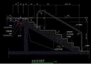 泳池台阶cad施工图