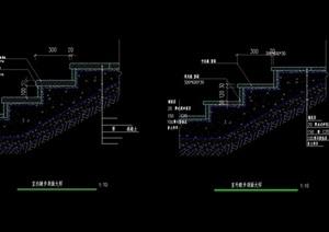 室外台阶踏步设计cad剖面图