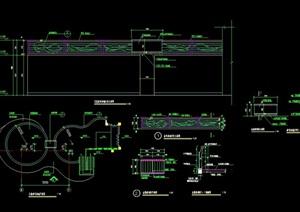 详细的童叟乐园设施素材设计cad施工图