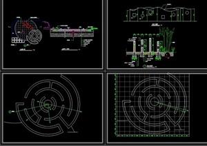 游乐设施素材详细设计cad施工图