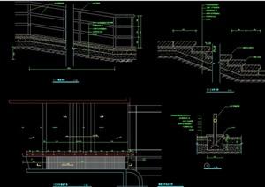 现代详细的台阶素材设计cad施工图