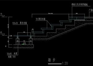 现代详细的台阶cad施工图