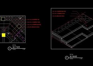 现代完整的台阶详细设计cad施工图