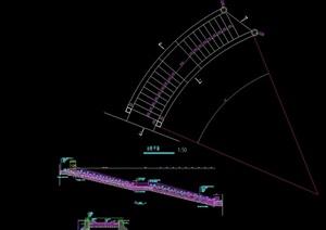 园林景观节点台阶设计cad施工图