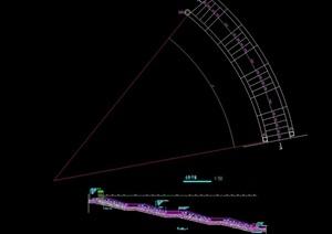 台阶设计cad平剖面图
