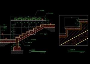 完整详细的台阶踏步设计cad施工图