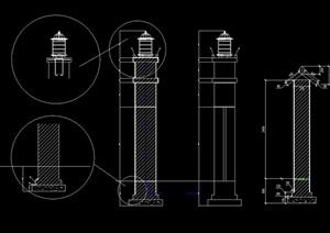 景观灯柱cad方案