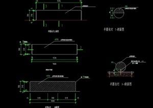 景观圆柱灯柱设计cad施工图