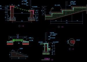 整体详细的完整台阶设计cad施工图
