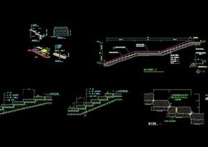 多个精致详细的台阶cad施工图