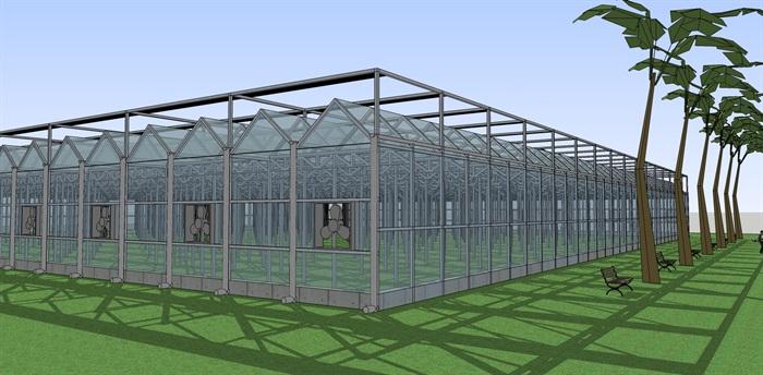 农业建筑温室大棚种植大棚SU(2)